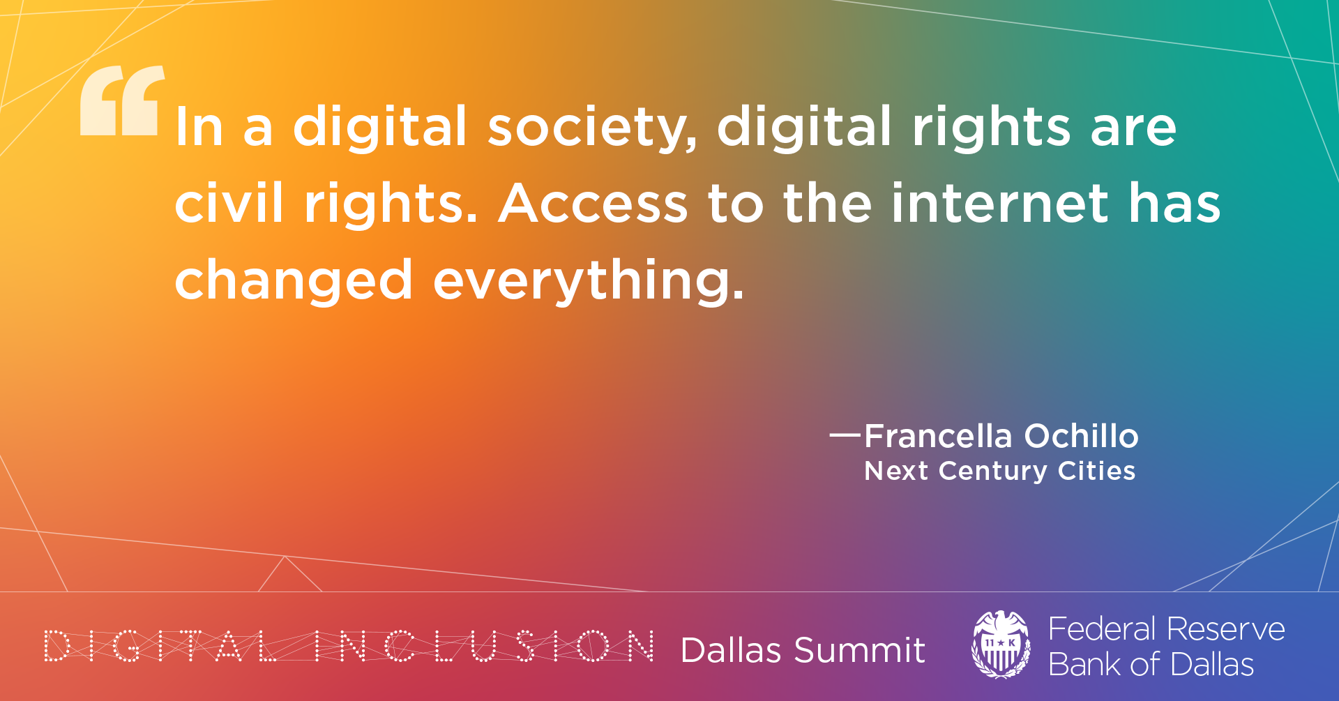 Keynote speaker Francella Ochillo emphasized the critical need for digital equity